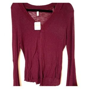 Free People Bell Sleeve Top